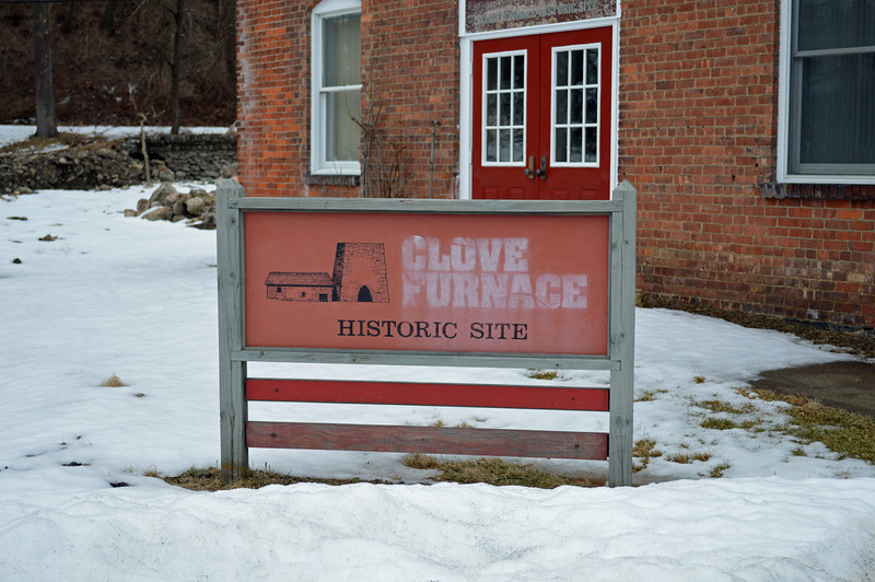 Entrance to the Clove Furnace Historic Site Museum, Arden, NY.
