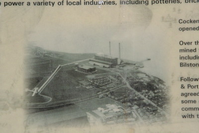 Aerial shot of the power station.