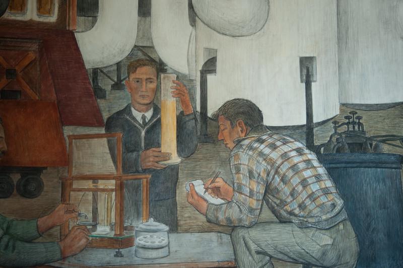 Murals on the ground floor