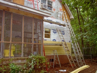 Day 10 - New siding and rebuilt kitchen window