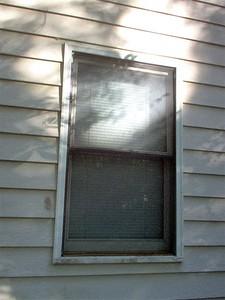 Window before repairs