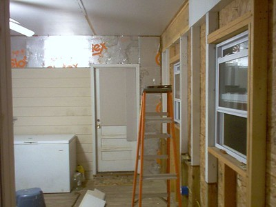 Here's a shot of the porch interior as I begin to gut it.