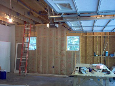 Insulation and sheetrock go up.