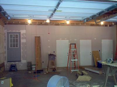 Closet doors are added.