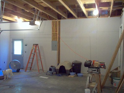 Getting closer to completion on the sheetrock and the electrical.