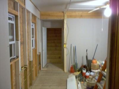 Same shot with door open to bonus room stairwell.