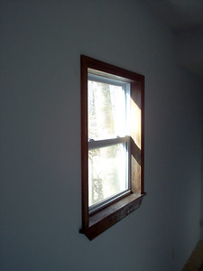 More handbuilt window casings.