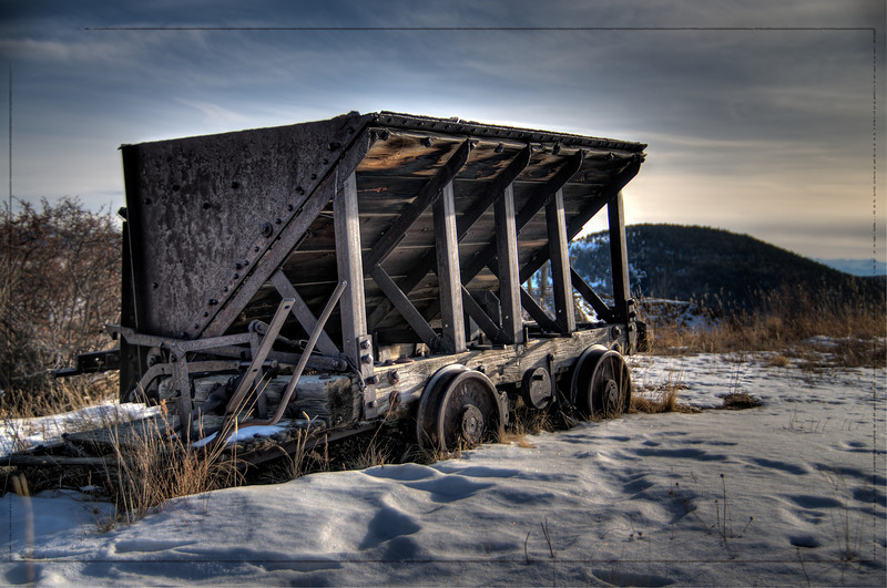 An Ore cart from the Independence Gold Mine in Victor, Colorado.