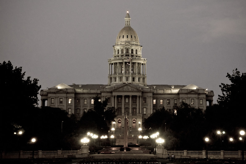A view of the Colorado State Capitol