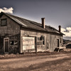 "The ""Corner Stop"" store and snack bar in the gold mining town of Victor, Colorado."