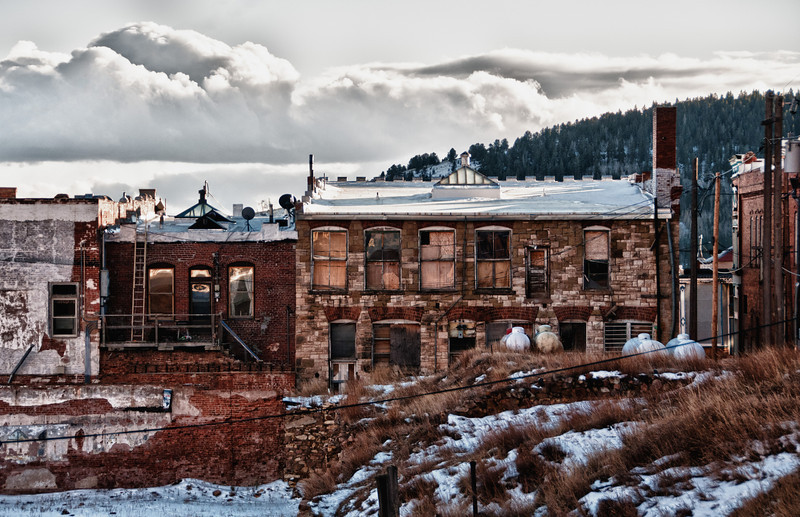 Renovation in the gold mining town of Victor, Colorado.