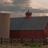 A beautiful Colorado barn and silo near the town of Sedalia, Colorado