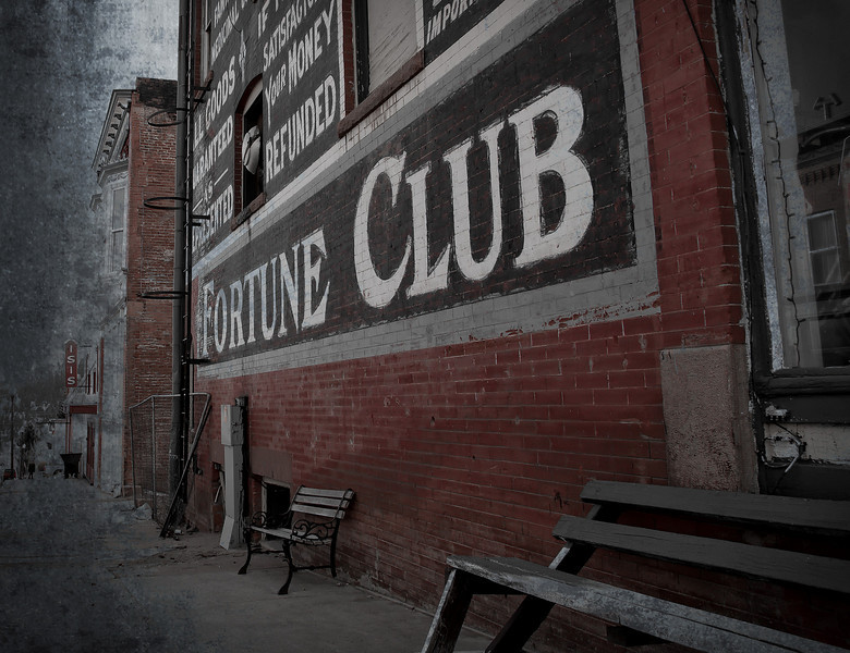 The Fortune Club building in the gold mining town of Victor, Colorado.
