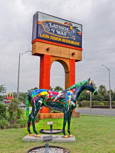 """""""Parrot~dise"""" art at Latinos Y Mas"""