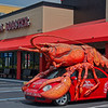 The Boston Lobster Feast  Lobstermobile in front of Restaurant