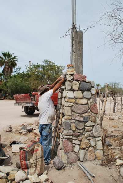 Juan working on the post for the power meter