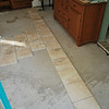 the white tiles I had bought for the bedroom don't look good at all - I think, I am going to travertin (checking the layout)
