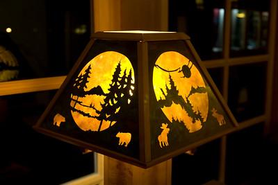 Lobby: table lamp silhouette shade