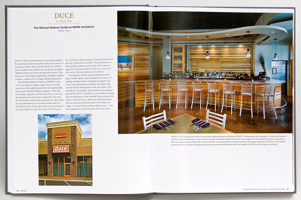 Duce Restaurant, Ft. Worth.  Client:  WKMC Architects, Dallas - Michael Malone AIA.
