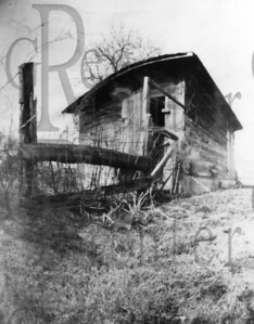 Old hog shed. Alabama. Shot with a pinhole camera made from a cracker box.