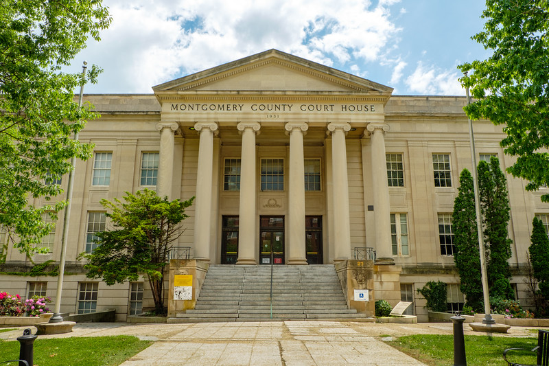 Grey Courthouse, District Court of Maryland for Montgomery County, Courthouse Square, Rockville, Maryland