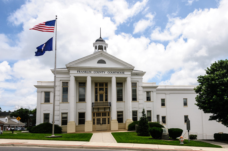 Frankin County Courthouse, 275 South Main Street, Rocky Mount, Virginia