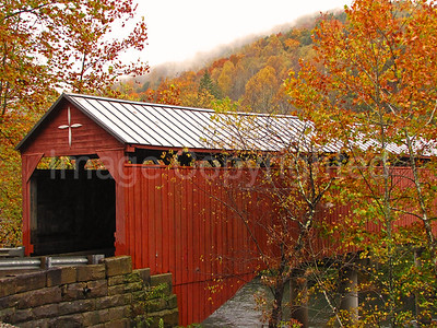 Carrolton covered bridge in fall - 10/24/11