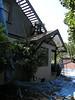 Kitchen eaves, gable ends, wall shingles & skip sheathing