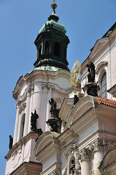 A detail of St. Nicholas church at Old Town square