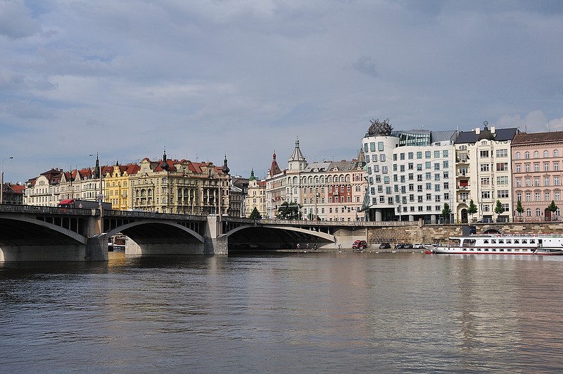 On the right side of the picture you can see so called Dancing house, where subsidiary of Accenture is based (former Andersen Consulting)