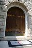 original front doors, exterior view