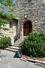 exterior view, front doors