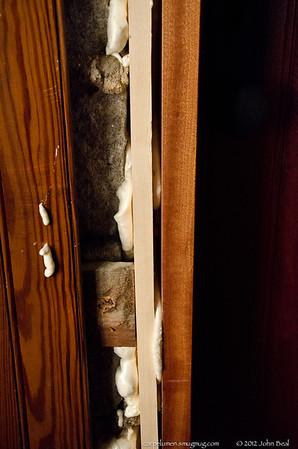 Chapel door replacement, May 2013