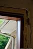 interior view, NE corner of bldg, rear side door