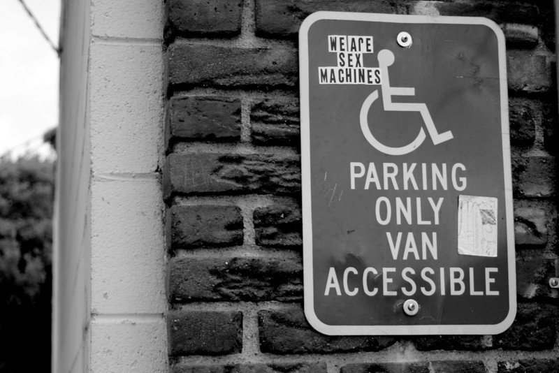 We are sex machines - Parking Only Van Accessible