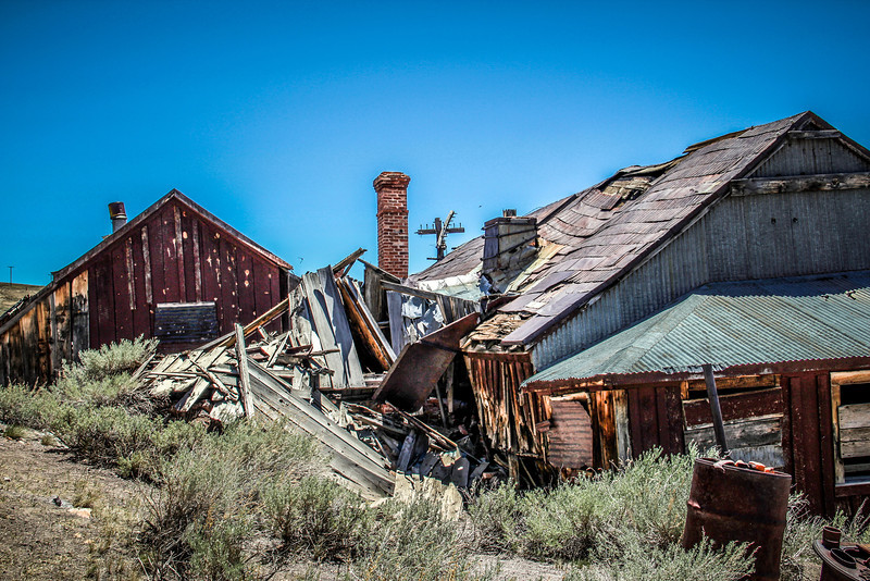 Bodie State Historic Park, California.  Ghost Town -- Summer 2012