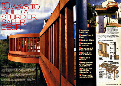 My Pride & Joy!  A pictorial story that appeared in Home Mechanics magazine in 1987, about 6 months after completion of the deck.