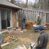 We are starting the retaining wall.