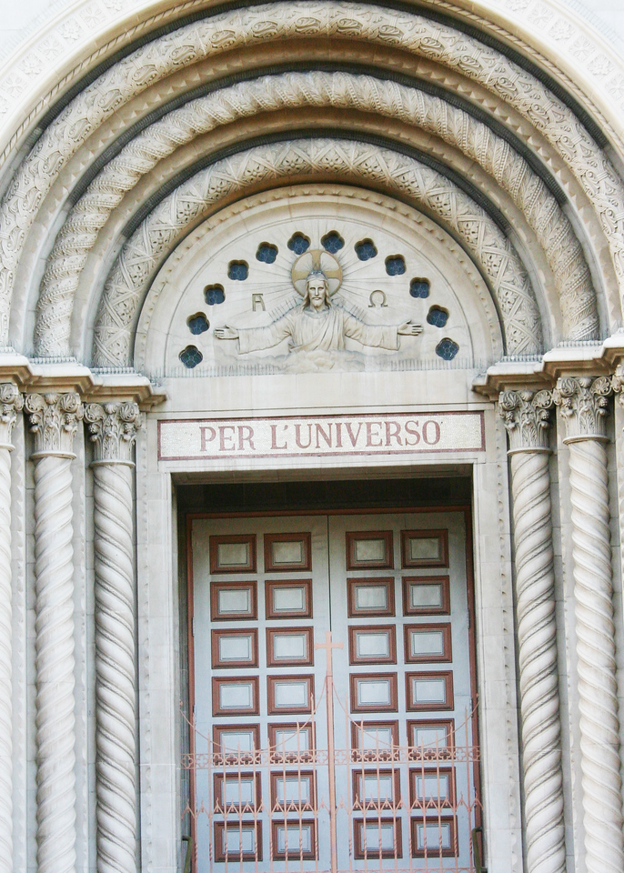Doorway of Sts. Peter and Paul Church, San Francisco, CA
