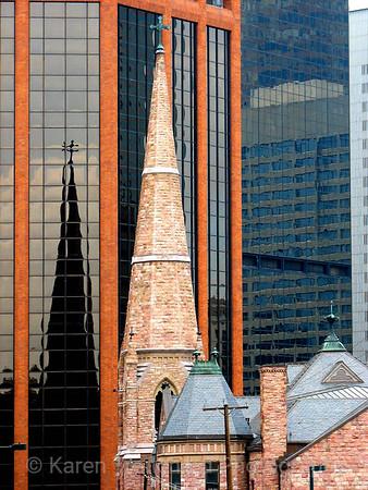 Trinity Methodist Church Steeple Denver, CO