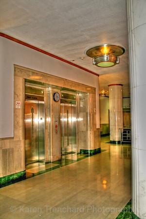 Elevators in Building 500 at University of Colorado Anschutz Medical Campus, Aurora, CO