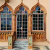 Colored Glass Door & Windows, Ca' d'Zan Mansion, Ringling Museum, Sarasota, Florida