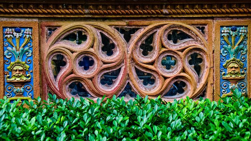 Ornate window, Ca' d'Zan Mansion, Ringling Museum, Sarasota, Florida