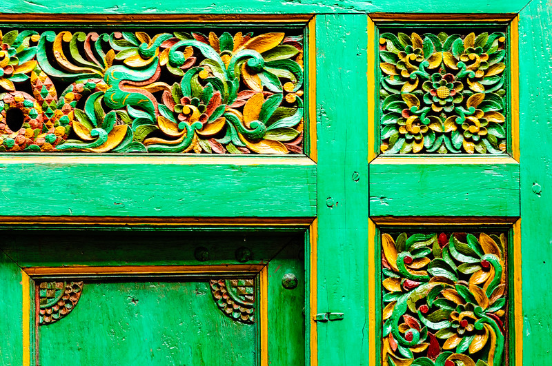 Ornamental Carved-Relief Door, Quinn's Auction House, Falls Church, Virginia