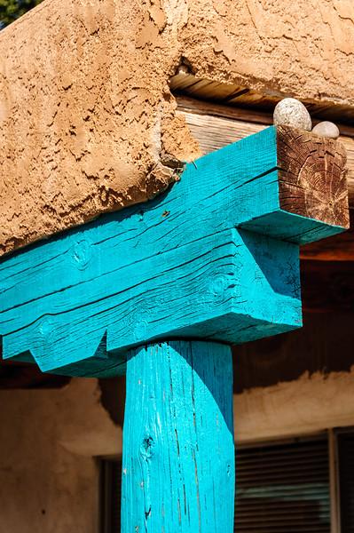 Turquoise Architectural Details, San Ildefonso Pueblo, New Mexico