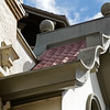 Detail of Historic City Hall Turned Retail in Gilroy, Ca
