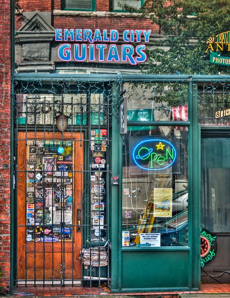 Emerald City Guitars, 83 S. Washington Street, Pioneer Square, Seattle, Washington