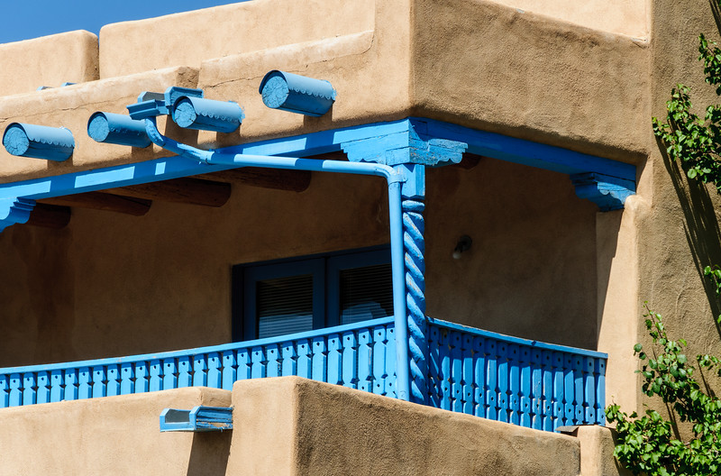 Turquoise Architectural Details, Casa Benavides Inn, Taos, New Mexico