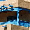 Turquoise  Architectural Details, Casa Benavides Inn, Taos, New Mexico