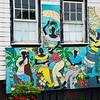 Colorful Caribbean Mural, St. John's, Antigua